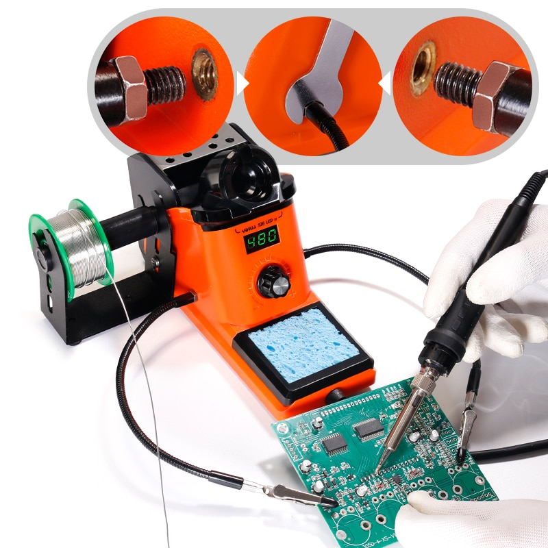 Compact Soldering Kit with Clips