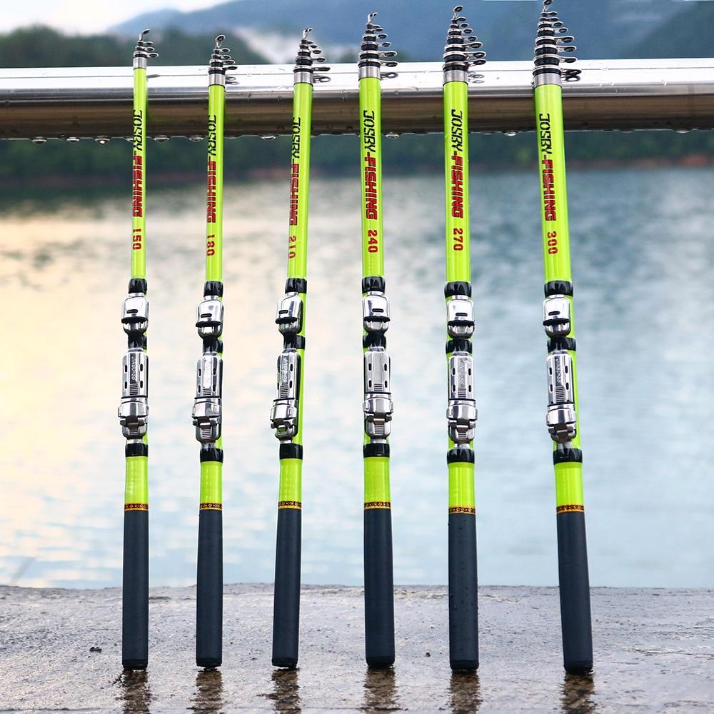 Long Telescopic Spinning Fishing Rod