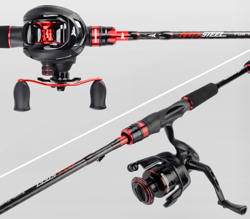 Short Carbon Fiber Spinning and Casting Fishing Rod