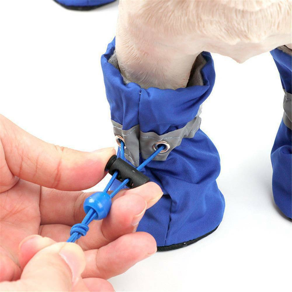 Dog's Adjustable Waterproof Socks 4 Pcs Set