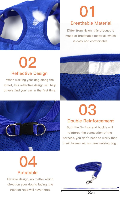 Pet's Adjustable Reflective Harness